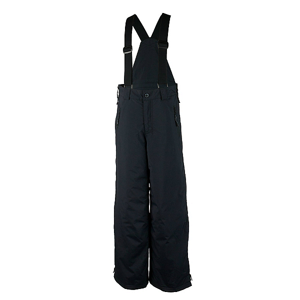 Obermeyer Surface Suspender Husky Teen Boys Ski Pants, Black, 600