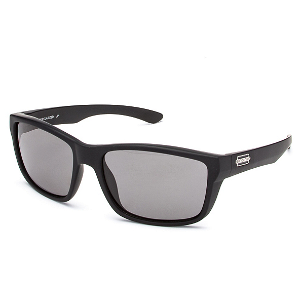 SunCloud Mayor Sunglasses, Matte Black-Gray Polarized, 600