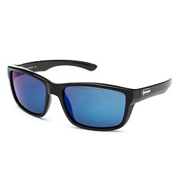 SunCloud Mayor Sunglasses, Black-Blue Mirror Polarized, 256