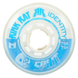 Rink Rat Identity Split 76A Inline Hockey Skate Wheels - 4 Pack, Blue-White, 256
