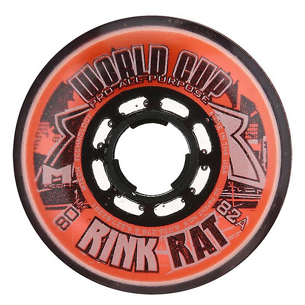 Rink Rat World Cup 82A Inline Hockey Skate Wheels - 4 Pack, , 600