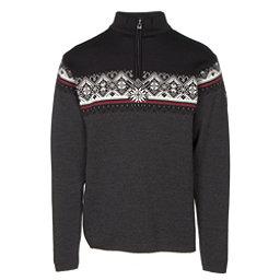 Dale Of Norway St Moritz Masculine Mens Sweater, Dark Charcoal-Raspberry-Black-, 256