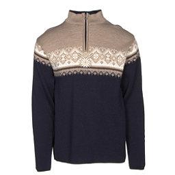 Dale Of Norway St Moritz Masculine Mens Sweater, Navy-Beige-Bronze Melange-Off, 256