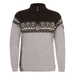 Dale Of Norway St Moritz Masculine Mens Sweater, Metal Grey-Schiefer-Black-Off, 256