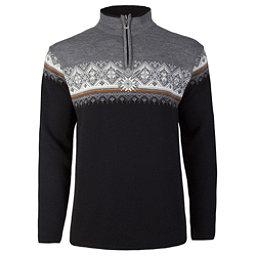Dale Of Norway St Moritz Masculine Mens Sweater, Black-Orange Peel-Off White-Sm, 256