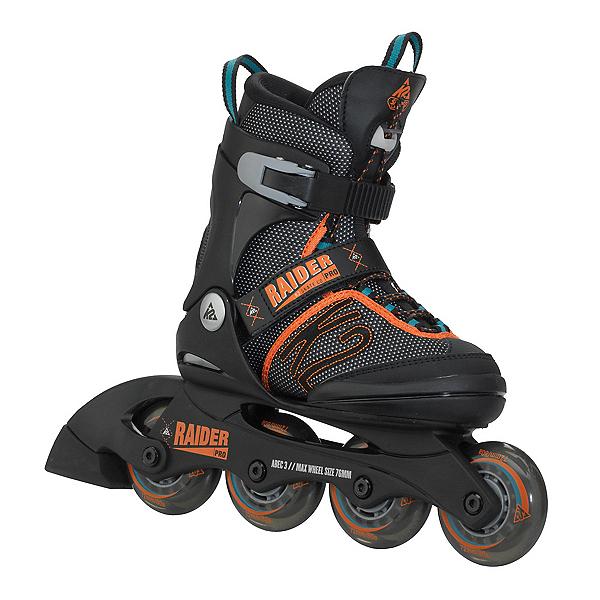 K2 Raider Pro Adjustable Kids Inline Skates, Black-Orange, 600