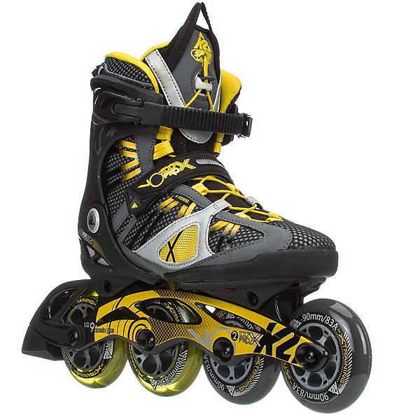 K2 VO2 100 X Pro Inline Skates, Black-Yellow, 600