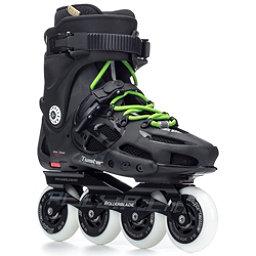 Rollerblade Twister 80 Urban Inline Skates, Black-Green, 256