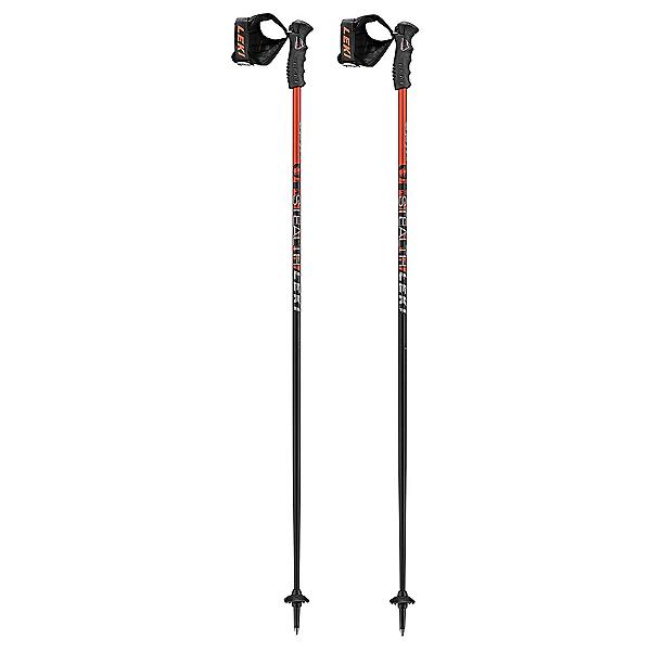 Leki Stealth S Ski Poles 2020, Black-Orange, 600