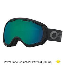 Oakley Canopy Prizm Goggles 2018, Factory Pilot Blackout-Prizm Snow Jade Iridium, 256