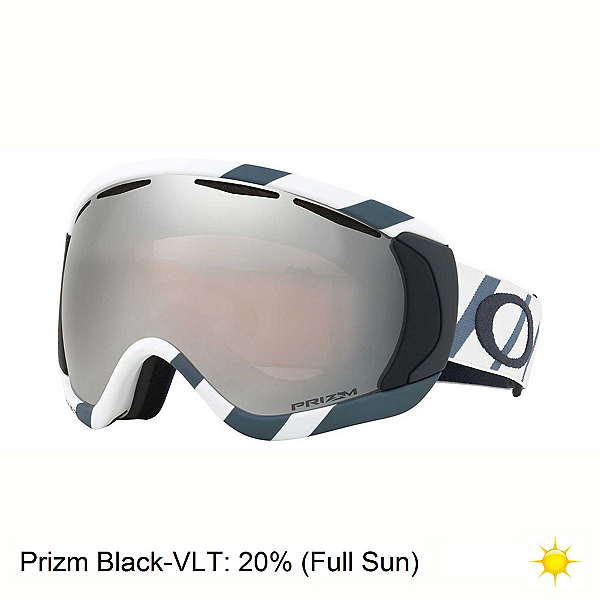 Oakley Canopy Prizm Goggles 2018, Hazard Bar Slate Ice-Prizm Black Iridium, 600