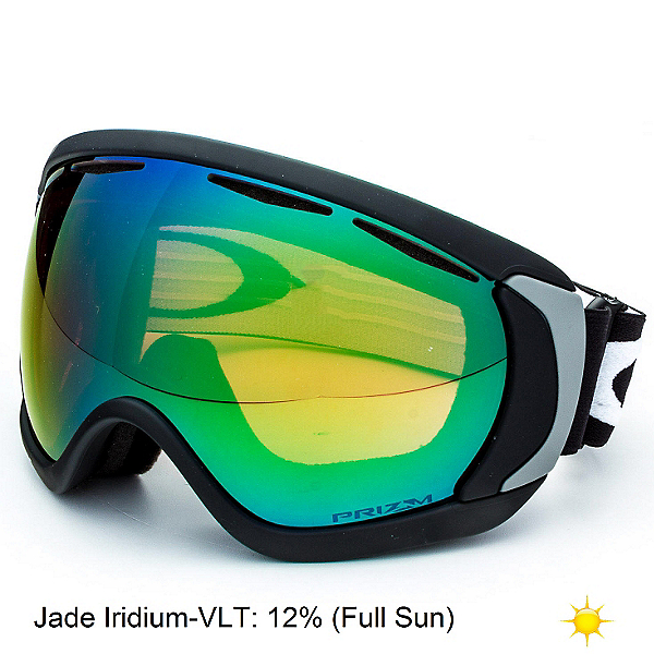 Oakley Canopy Prizm Goggles, Matte Black-Prizm Jade Iridium, 600