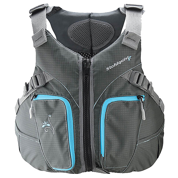 Stohlquist Misty Womens Kayak Life Jacket 2017, Gray-Blue, 600