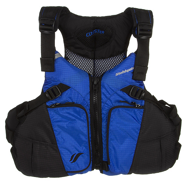 Stohlquist Coaster Adult Kayak Life Jacket, Royal Blue-Black, 600
