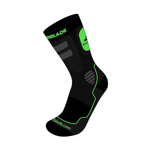 Rollerblade High Performance Socks 2017, Black-Green, 600