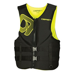 O'Brien Traditional Neoprene Adult Life Vest 2017, Black-Yellow, 256