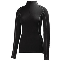 Helly Hansen Warm Freeze 1/2 Zip Womens Long Underwear Top, Black-Black, 256