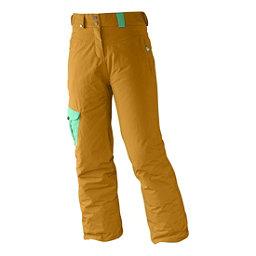 Salomon Sashay Girls Ski Pants, Yellowstone-Cascade Green, 256