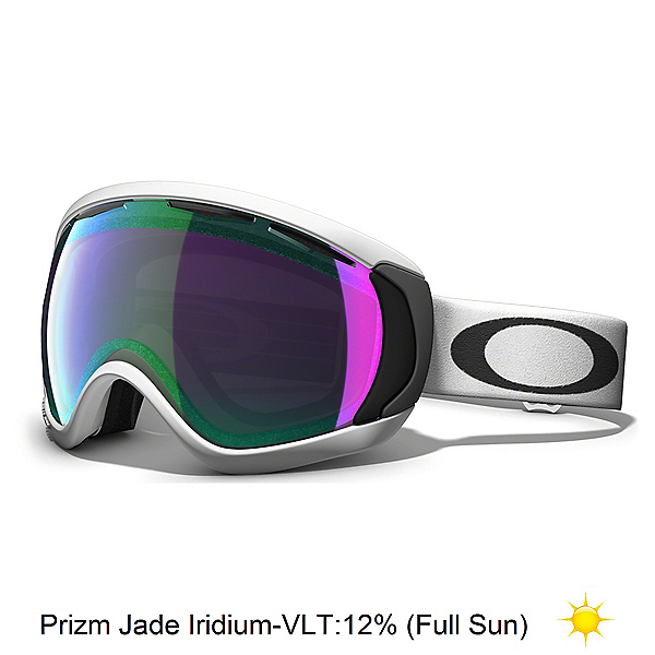 Oakley Canopy Prizm Goggles 2020, Matte White-Prizm Jade Iridium, 600