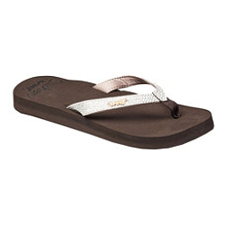 Reef Star Cushion Sassy Womens Flip Flops, Brown-White, 256