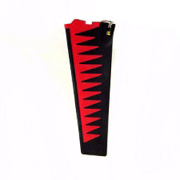 Hobie Mirage Turbo Fin Replacement, Red-Black, 256