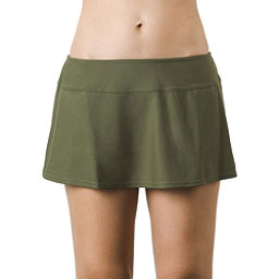Prana Sakti Swim Skirt Bathing Suit Bottoms, Cargo Green, 256