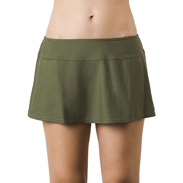 Prana Sakti Swim Skirt Bathing Suit Bottoms, Cargo Green, 600
