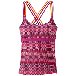 Prana Indra Tankini Bathing Suit Top, Fuchsia Ibiza, 256