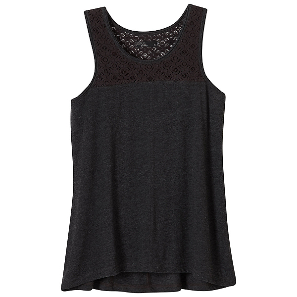 Prana Cassi Womens Tank Top, Black, 600