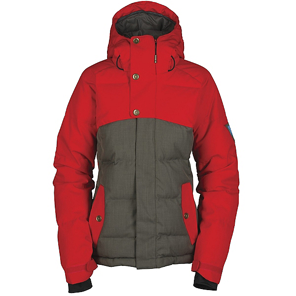 Bonfire Astro Womens Insulated Snowboard Jacket, Iron-Poppy, 600
