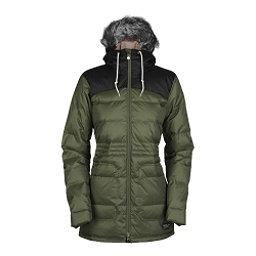 Bonfire Halifax w/Faux Fur Womens Insulated Snowboard Jacket, Bunker-Black, 256