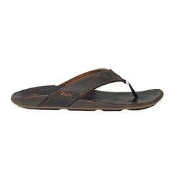OluKai Nui Mens Flip Flops, Dark Java-Dark Java, 256