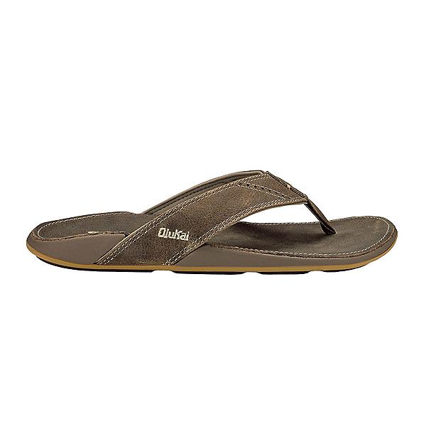 OluKai Nui Mens Flip Flops, Clay-Clay, 600
