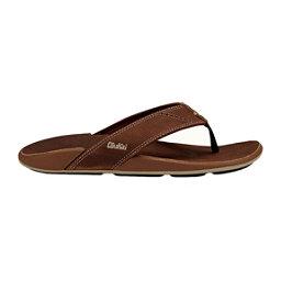 OluKai Nui Mens Flip Flops, Rum-Rum, 256