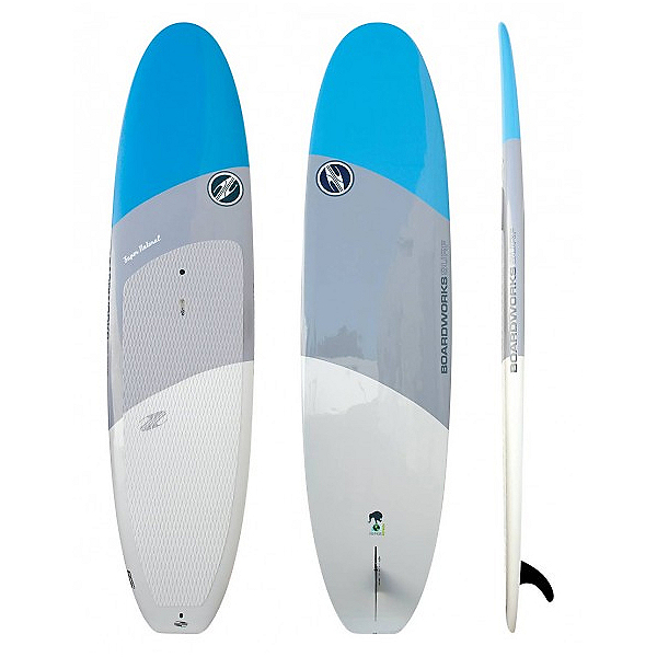 Boardworks Surf Super Natural 10'6 Recreational Stand Up Paddleboard 2017, Storm-Grey-White, 600