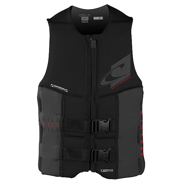 O'Neill Assault LS USCG Adult Life Vest 2020, Black-Graphite, 600