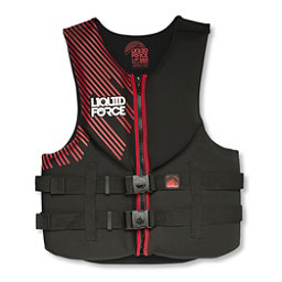 Liquid Force Hinge Classic Adult Life Vest, Black-Red, 256