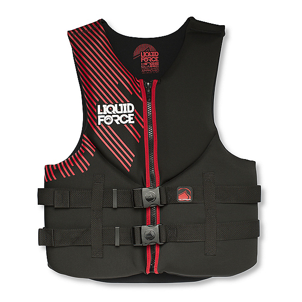 Liquid Force Hinge Classic Adult Life Vest 2017, Black-Red, 600