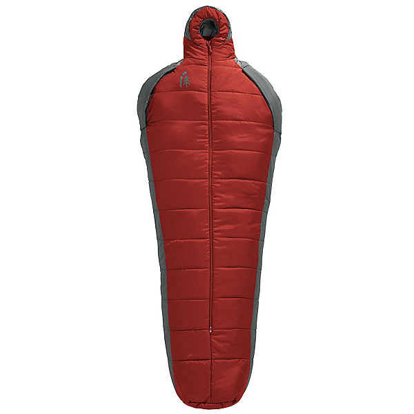 Sierra Designs Mobile Mummy Synthetic Long Sleeping Bag, Red Dahlia-Smoked Pearl, 600