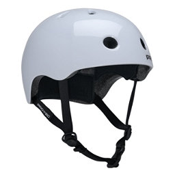 Pro-Tec Street Lite Mens Skate Helmet, Gloss White, 256
