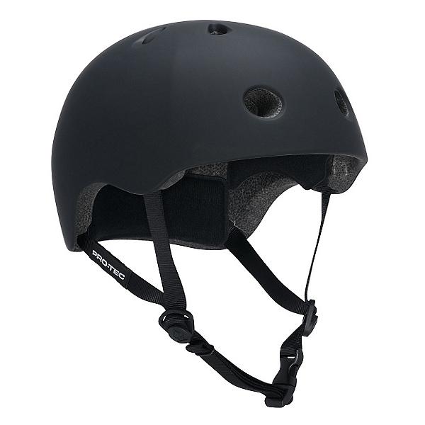 Pro-Tec Street Lite Mens Skate Helmet, Rubber Black, 600