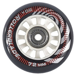 Rollerblade Wheel Kit 72mm/80A Inline Skate Wheels with SG5 Bearings - 8pack 2018, , 256