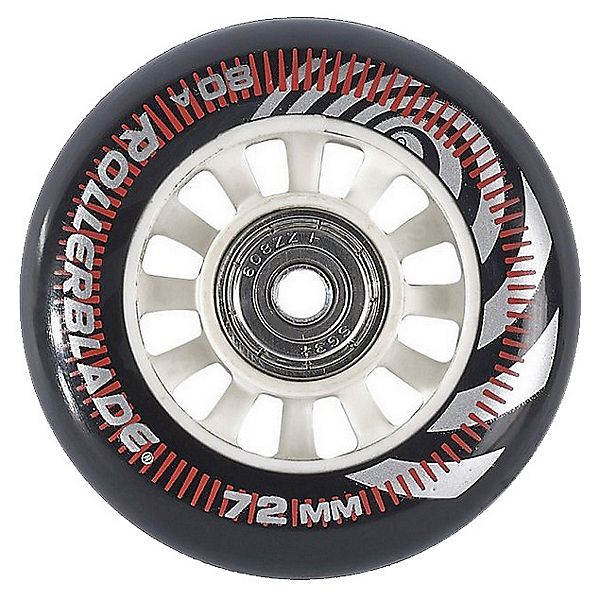 Rollerblade Wheel Kit 72mm 80A Inline Skate Wheels With SG5 Bearings