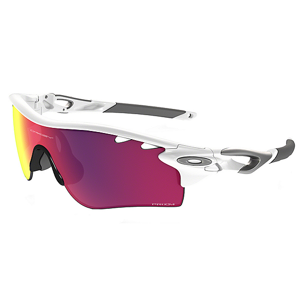 Oakley Radarlock Polarized Sunglasses, Polished White-Prizm Red, 600
