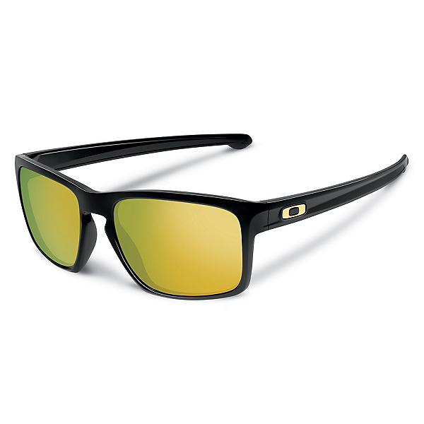 Oakley Sliver Sunglasses, Polished Black-24k Iridium, 600
