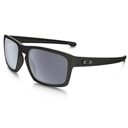Oakley Sliver Sunglasses, Matte Black-Gray, 256