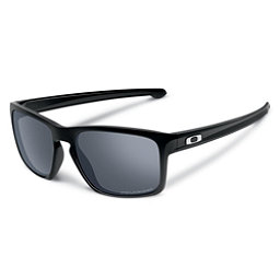 Oakley Sliver Polarized Sunglasses, Polished Black-Prizm Daily, 256