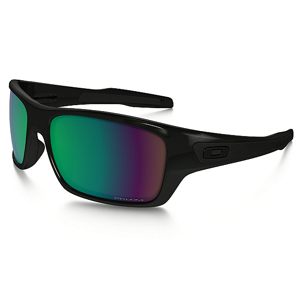 Oakley Turbine Polarized Sunglasses, Polished Black-Prizm Fresh Water, 600