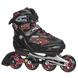 Roces Moody 4.0 Boys Adjustable Kids Inline Skates, Black-Red-Yellow, 256