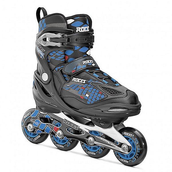 Roces Moody 4.0 Boys Adjustable Kids Inline Skates, Black-Astro-Blue-Red, 600